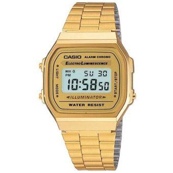 Casio Vintage Men's Gold Stainless Steel Watch A168WG-9WDF