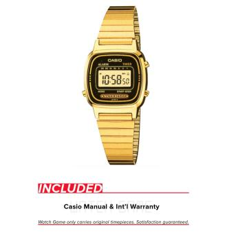 Casio Vintage Women's Gold Stainless Steel Band Watch LA670WGA-1DF