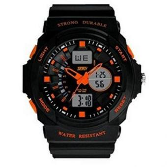 Children Teens SKMEI Digital Outdoor Sport Watch LED DigitalWaterproof Orange Price Philippines