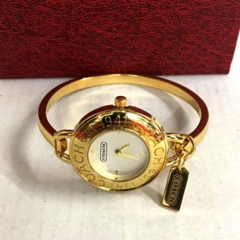 Coach Stainless Steel Bangle Watch in Gold Tone