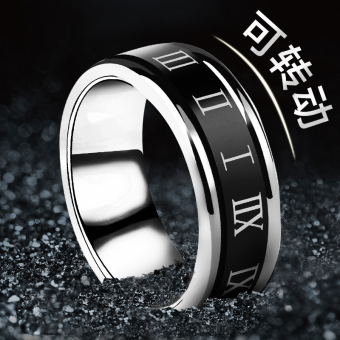 Cool European and American lettering single men's ring