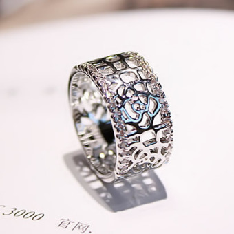 Cool porous rose joint ring (Silver. Rose) (Silver. Rose)