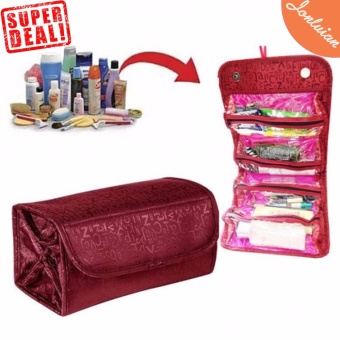 Cosmetic Make Up Travel Buddy Cosmetic Toiletry Bag (Maroon) Price Philippines