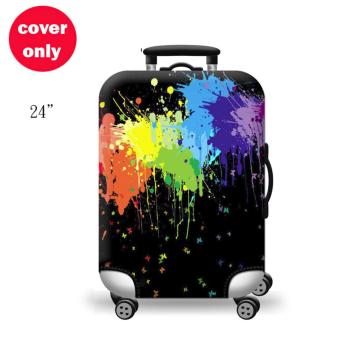 (Cover only) Elite Luggage Cover / Suitcase Cover ( Black Ink )-medium