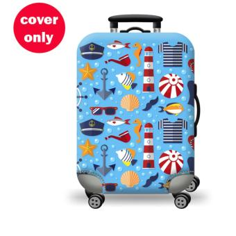 (Cover only) Elite Luggage Cover / Suitcase Cover ( Marine ) -large