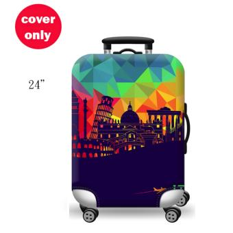 (Cover only) Elite Luggage Cover / Suitcase Cover ( Night City )- medium