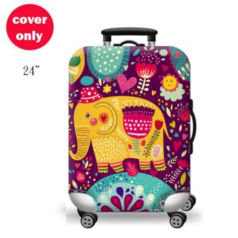 (Cover only) Elite Luggage Cover / Suitcase Cover ( Thai Elephant )- medium
