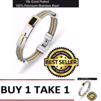 Cross Jesus Premium Stainless Steel Bracelet BUY 1 TAKE 1