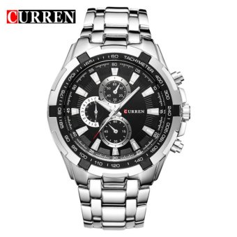 Curren Stainless Steel Strap Unisex Watch 8023 (Silver/Black)
