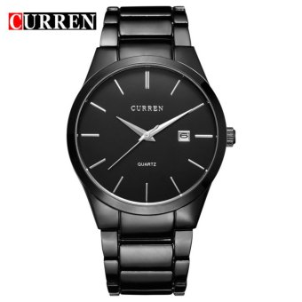 Curren Stainless Steel Strap Unisex Watch 8106 (Black/Black)