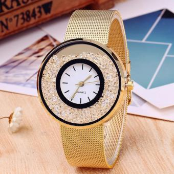 CWL-CT500 Women Luxury Fashion with crystal beads Watch (Gold) Price Philippines