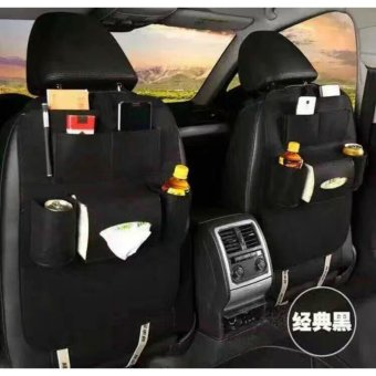 D&D Automobile Seat Back Suspension Vehicle Bag Bag In The CarAuto Supplies Storage Bag(Black)/ buy One take One
