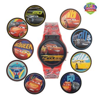 Disney Pixar Cars Mix and Match Cover Boys Red Plastic Strap Watch CARJ15-17
