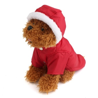 Dog Pet Warm Cotton Jacket Coat Hoodie Puppy Winter Clothes Pet Costume New - intl