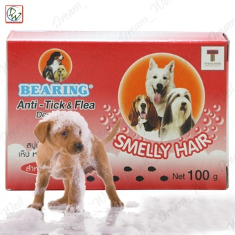 Dog Soap Bearing Anti-Tick & Flea (Smelly Hair)