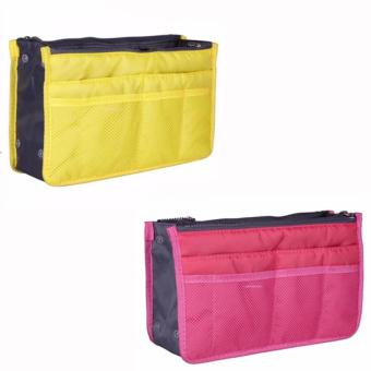 Dual Zipper Bag in Bag Organizer Set of 2 (color may vary) Price Philippines