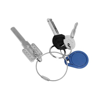 Durable Stainless Steel Key Rings & Key Chain Car StylingAccessories Automobile Keychain for Automotive Decoration - intl