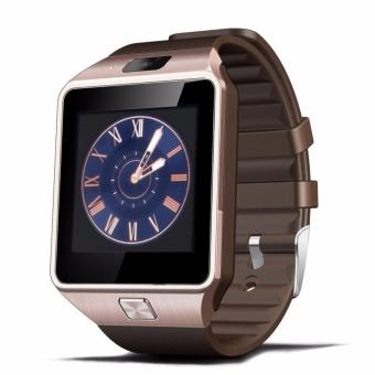 DZ09 Bluetooth Smart Watch Wrist Wrap Watch Phone SIM Card Slot with Camera IPS Touch Screen (Coppertone)
