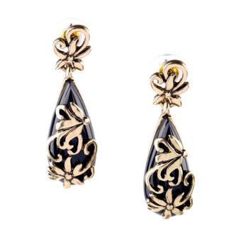 European and American female luxury porous stud flower pendant Jewellery Women Fashion Jewellery Earrings