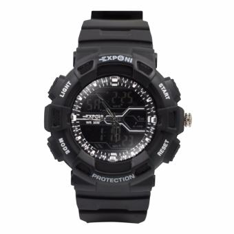 EXPONI Unisex Black PVC Plastic Strap Sport Watch 3230 Price Philippines