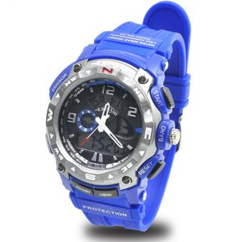 EXPONI Unisex Blue PVC Plastic Strap Sports Watch 3207ME Price Philippines