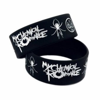 Fancyqube MY CHEMICAL ROMANCE Rubber Bracelet Wristband May DeathNever Stop You Black Price Philippines