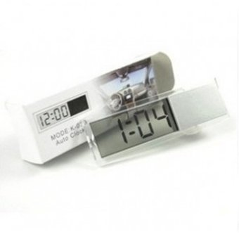 Fancytoy Car Electronic Clock Mini Durable Transparent LCD DisplayDigital Sucker- - intl