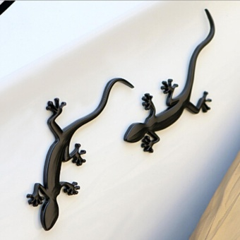 Fashion 3D Metal Gecko Car Auto Motorcycle Logo Emblem Badge Car Styling Stickers Automobiles Car-Styling Accessories(2pcs) - intl