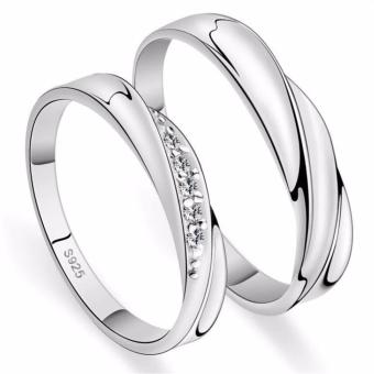 Fashion Lovers Rings Silver Adjustable Couple Ring Jewelry E004