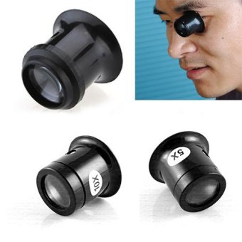 Fncytoy 1Pc 5x/10x Watch Jewellery Magnifier Loupe Eye Len EyepieceRepair Kit Tool