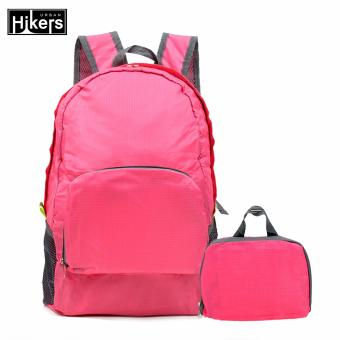 Foldable Lightweight Travel Backpack for Camping and Hiking (Pink)
