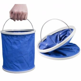 Foldable Water Bucket Collapsible Pail (Blue) Water Container waterbag Price Philippines