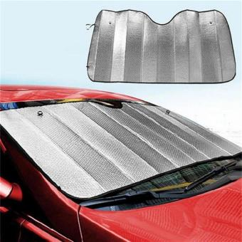 Foldable Windshield Sunshade Reflective Sun Block Car Cover Visor Silver