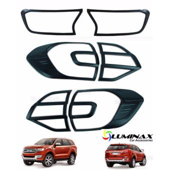 Ford Everest 2015+ (2 Sets) Headlight and Tailight Cover MatteBlack Protector