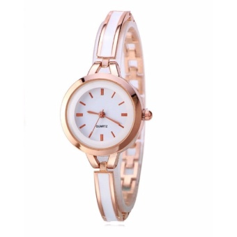 Geneva Camille Fashion Ladies Casual Bracelet Quarts Wrist Watch(White)