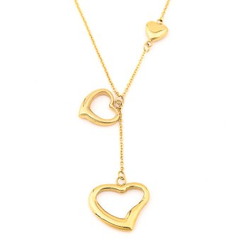 Glamorosa Duo Heart Necklace (Gold) Price Philippines