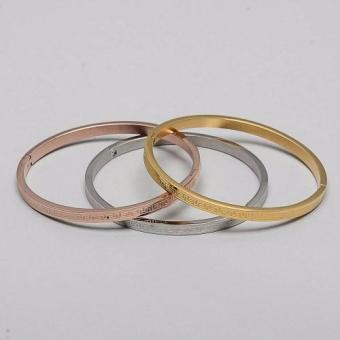 Glamorosa Versace Pattern Set of 3 Bangle (3 Toned) Price Philippines