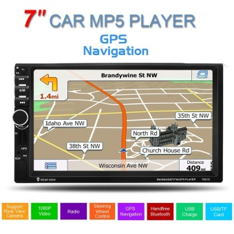 GPS 7inch Touch Screen Support hands-free Calls Car Stereo MP5 Player FM USB SD TF Bluetooth Radio - intl