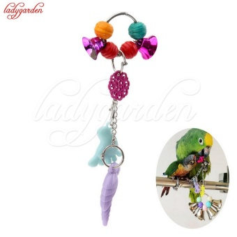 Great Colorful Bird Toys Ringer Birds Parrot Conure CaiqueCockatiel Cage Chewing Bells Toy Pet Bird Ring Bell Parrot Toys -intl Price Philippines