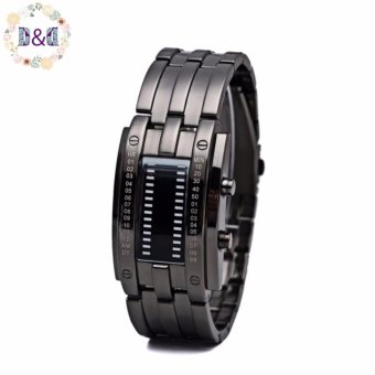Greatnes D&D Men's Date Digital Sport tungsten steel Binary LED luminous zinc alloy Watch (Black)