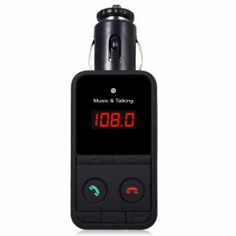 Hand Free 301E Wireless Bluetooth FM Transmitter Modulator Car KitMP3 Player (Black)