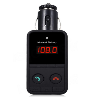 Hands-free Car Kit FM Transmitter for Car, Bluetooth Radio AdapterKit for Music and Hands-Free Talking (Black)(model#301)