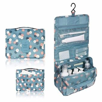 Hanging Toiletry Cosmetic Pouch Travel Bag Organizer (Daisy Mint)