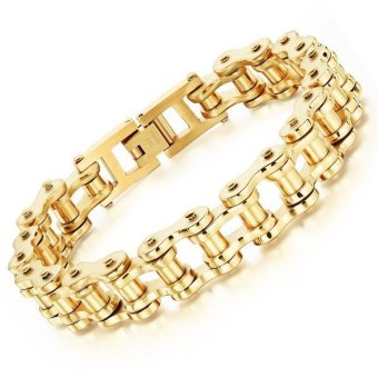 Heavy Metal Motorcycle Biker Chain Bracelet Link Wrist for Men -INTL