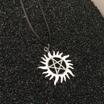 High Quality Store New Hot Supernatural Dean Anti-Possession SymbolPentagram Silver Pendant Necklace