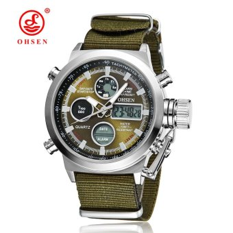 Hot Selling Original Famous Brand OHSEN Digital Sport Mens Watch Male Clock Nylon Band Fashion Diving Wristwatches For Men Gift - intl
