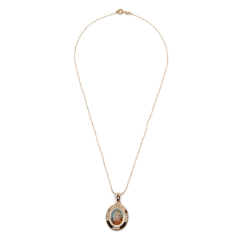 Harga Athena & Co. 22k Mother Mary Necklace (Rose Gold)