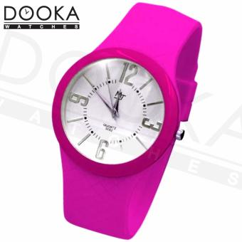 MJ Womens Neon Pink Super Thin Rubber Strap Watch S062 Price Philippines
