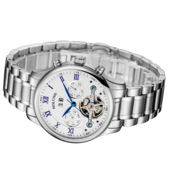 HOLUNS QINGLANG Stainless Steel Band Waterproof Quartz Men Watch - intl Price Philippines