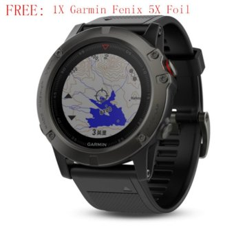 Garmin Fenix 5X Sapphire Watch Wrist HR DLC Black Simplified Traditional Chinese - intl Price Philippines